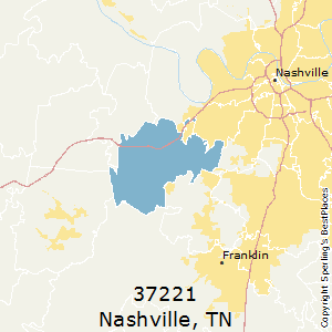 Nashville,Tennessee County Map