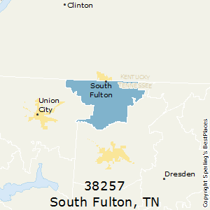South_Fulton,Tennessee County Map