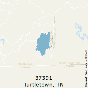 Turtletown,Tennessee County Map