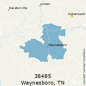 Waynesboro,Tennessee County Map