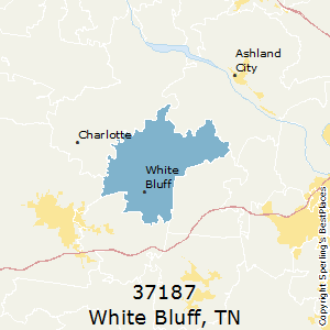 White_Bluff,Tennessee County Map