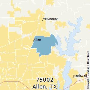 Flower Mound Zip Code Map.Best Places To Live In Allen Zip 75002 Texas