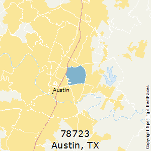 Austin,Texas County Map
