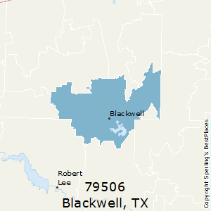 Blackwell,Texas County Map