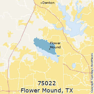 Flower_Mound,Texas(75022) Zip Code Map