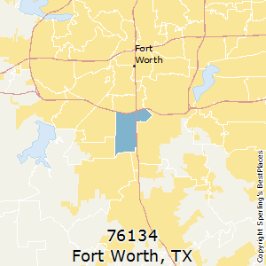Fort_Worth,Texas(76134) Zip Code Map
