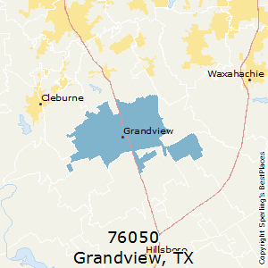 Grandview,Texas County Map