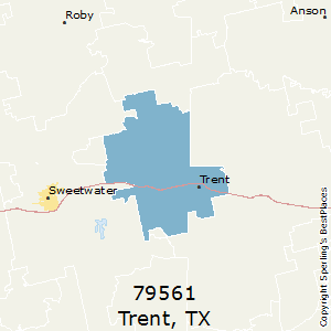 Trent,Texas County Map