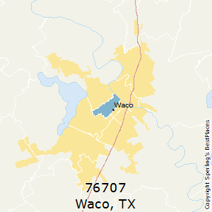 Waco,Texas County Map