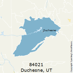 Duchesne,Utah County Map