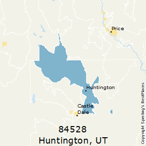 Huntington,Utah(84528) Zip Code Map