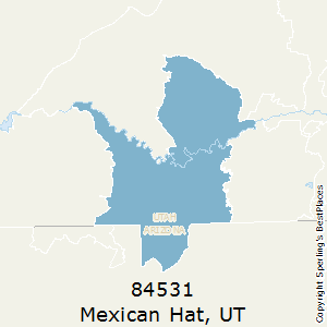 Mexican_Hat,Utah County Map