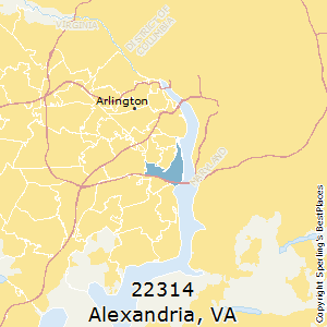Alexandria,Virginia County Map