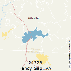 Fancy_Gap,Virginia County Map