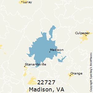 Madison,Virginia(22727) Zip Code Map