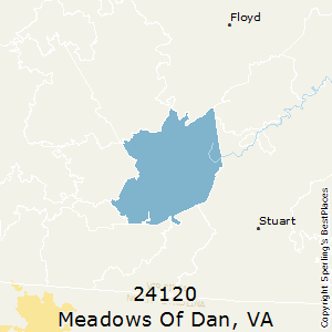 Meadows_of_Dan,Virginia(24120) Zip Code Map