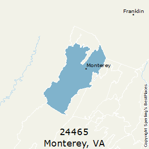 Monterey,Virginia County Map