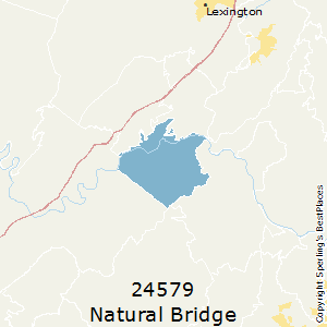 Natural_Bridge_Station,Virginia County Map