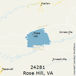 Rose_Hill,Virginia County Map