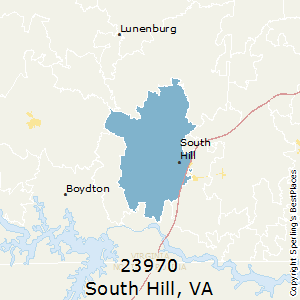 South_Hill,Virginia(23970) Zip Code Map
