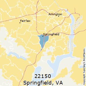 Springfield Va Zip Code Map.Best Places To Live In Springfield Zip 22150 Virginia