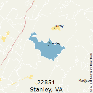Stanley,Virginia County Map