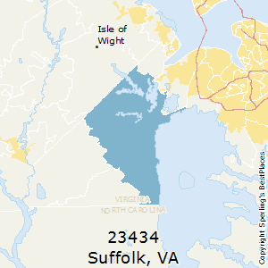 Suffolk,Virginia County Map