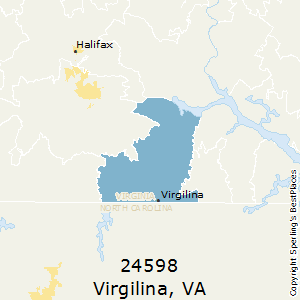 Virgilina,Virginia County Map