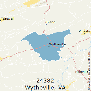 Wytheville,Virginia County Map