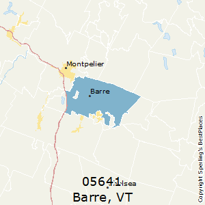 Barre,Vermont County Map