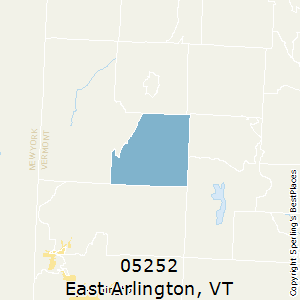 East_Arlington,Vermont County Map
