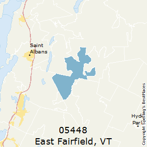 East_Fairfield,Vermont County Map