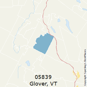 Glover,Vermont County Map