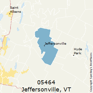 Jeffersonville,Vermont County Map