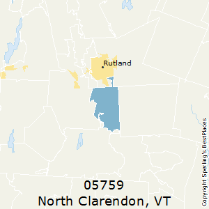 North_Clarendon,Vermont County Map