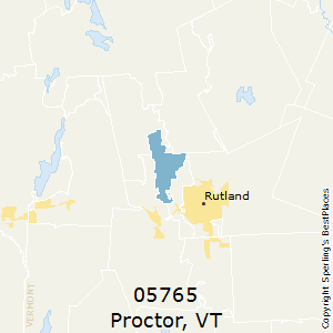 Proctor,Vermont County Map