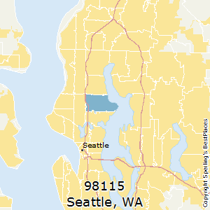 Seattle,Washington(98115) Zip Code Map