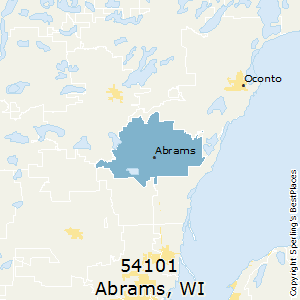 Abrams,Wisconsin(54101) Zip Code Map