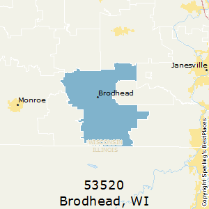 Brodhead,Wisconsin County Map