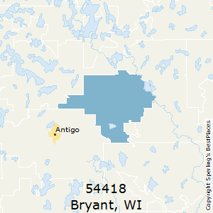 Bryant,Wisconsin County Map