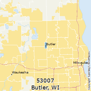 Butler,Wisconsin County Map