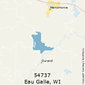 Eau_Galle,Wisconsin County Map