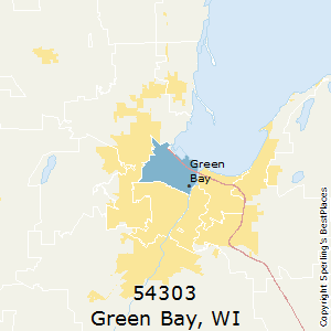 Green Bay Wi Zip Code Map.Best Places To Live In Green Bay Zip 54303 Wisconsin