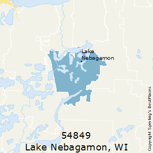 Lake_Nebagamon,Wisconsin County Map