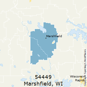 Marshfield,Wisconsin County Map