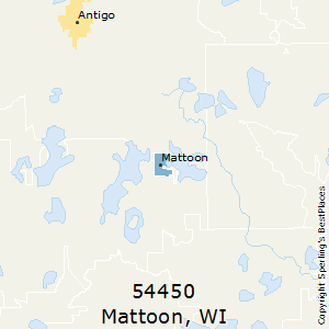 Mattoon,Wisconsin County Map