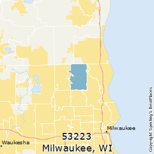 Milwaukee,Wisconsin(53223) Zip Code Map