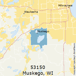 Muskego,Wisconsin County Map