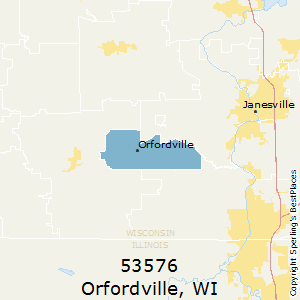 Orfordville,Wisconsin County Map