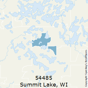 Summit_Lake,Wisconsin(54485) Zip Code Map
